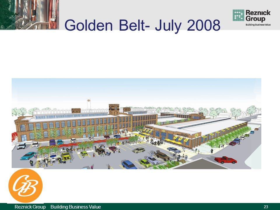 Reznick Group Building Business Value 22 Golden Belt- December 2007
