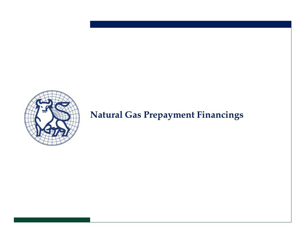 Natural Gas Prepayment Financings