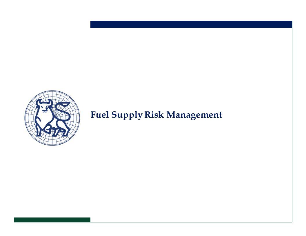 Fuel Supply Risk Management