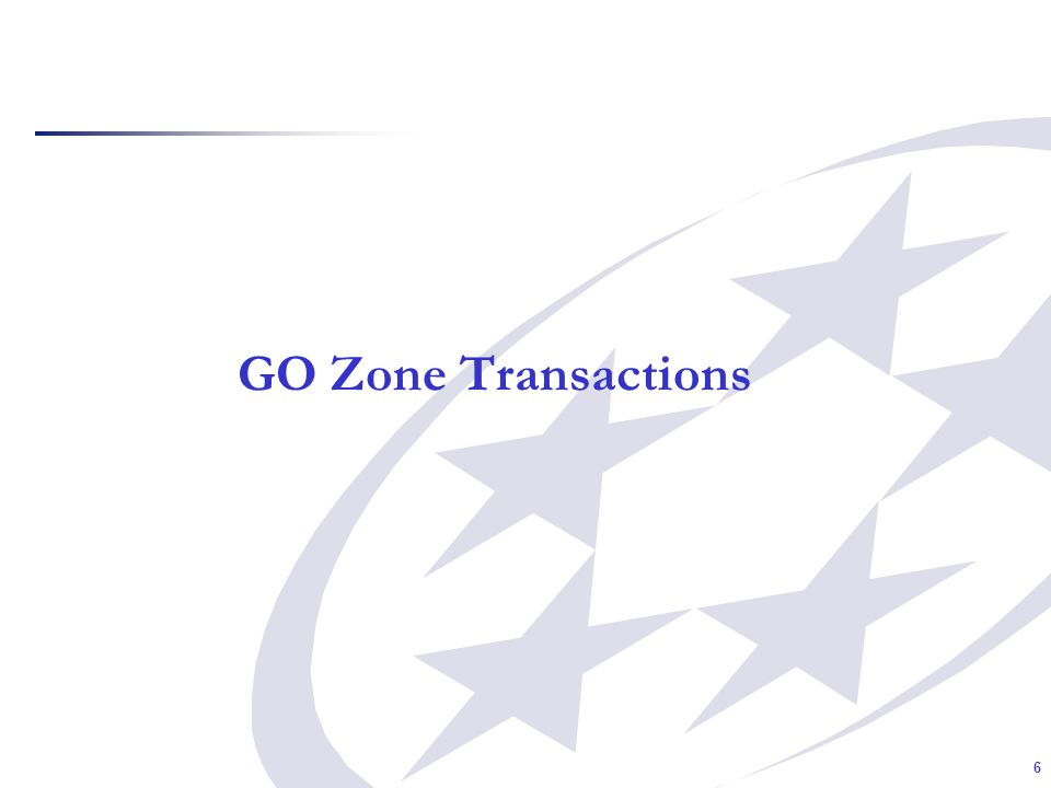 6 GO Zone Transactions