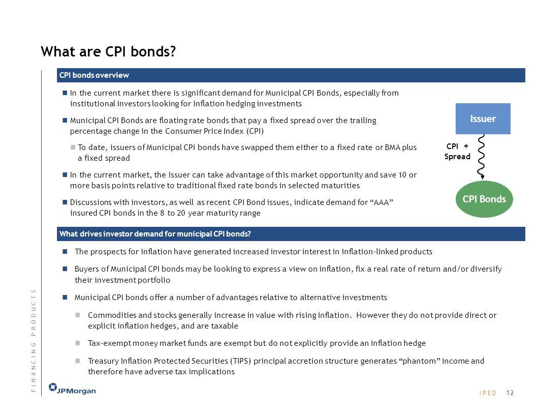 I P E DI P E D CPI Bonds What are CPI bonds.