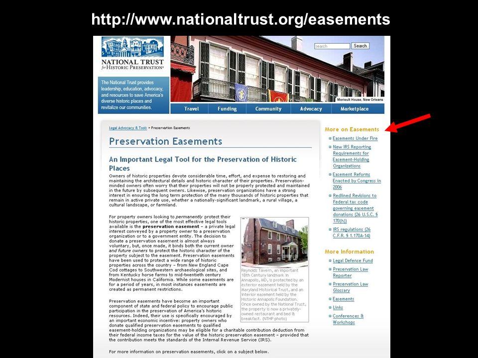 http://www.nationaltrust.org/easements