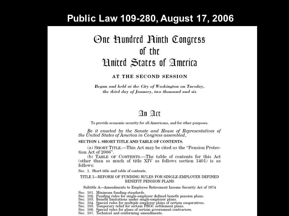 Public Law 109-280, August 17, 2006