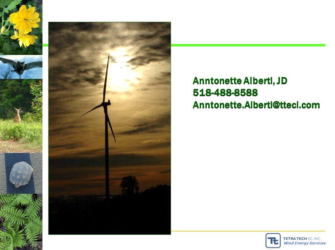 Wind Energy Services Anntonette Alberti, JD 518-488-8588 Anntonette.Alberti@tteci.com