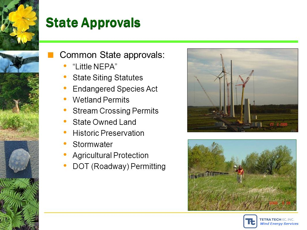 Wind Energy Services AWEA Siting Guide.