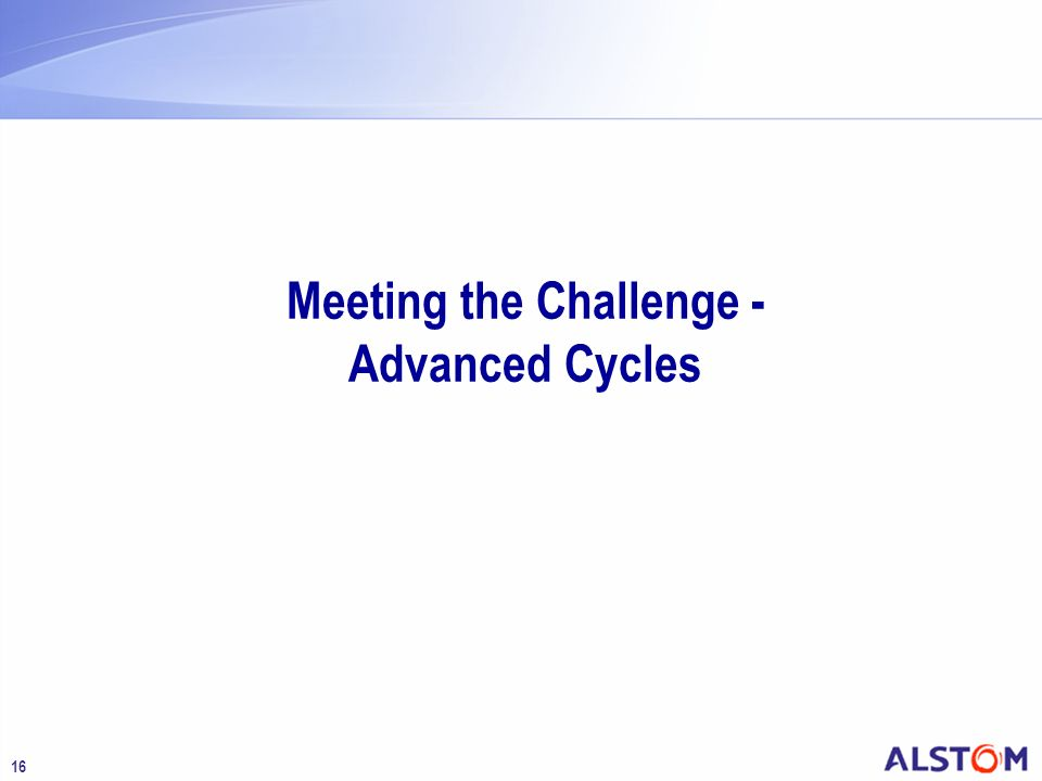 16 Meeting the Challenge - Advanced Cycles