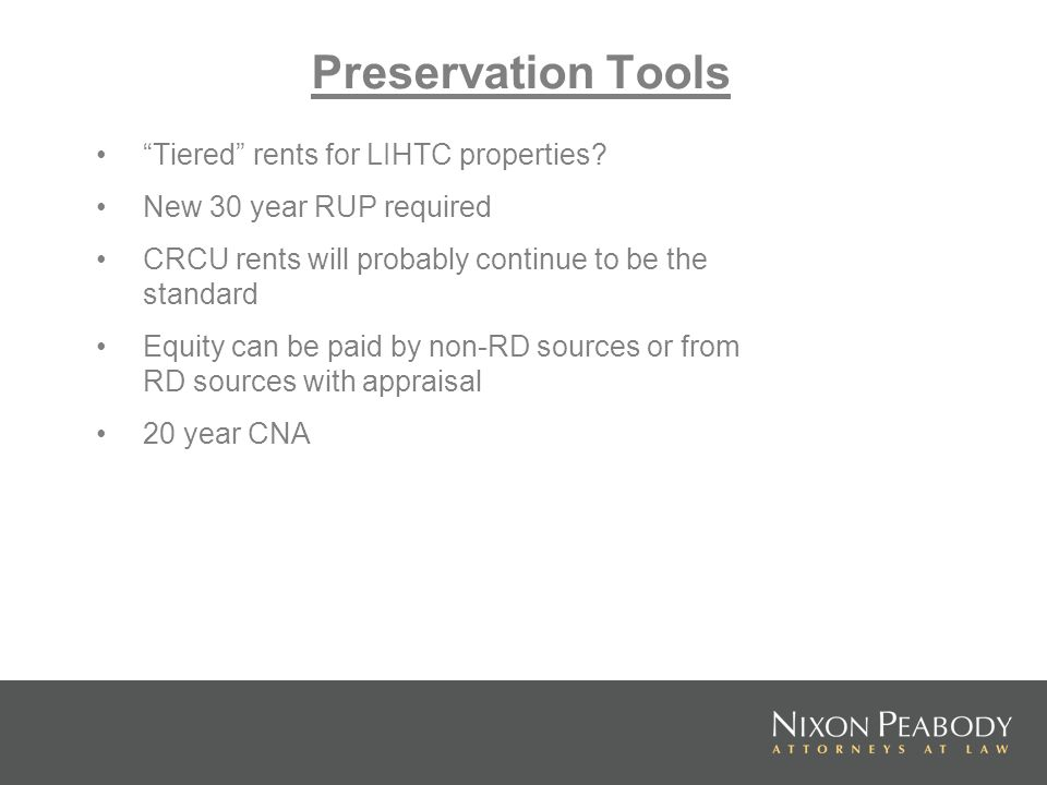 Tiered rents for LIHTC properties.