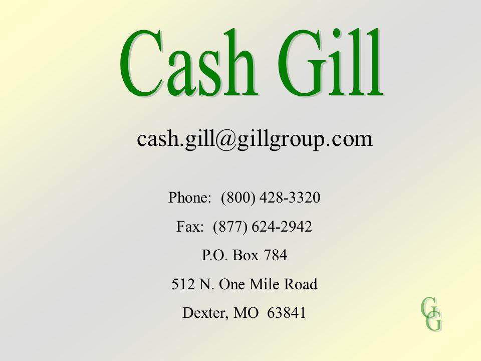 Phone: (800) 428-3320 Fax: (877) 624-2942 P.O. Box 784 512 N. One Mile Road Dexter, MO 63841