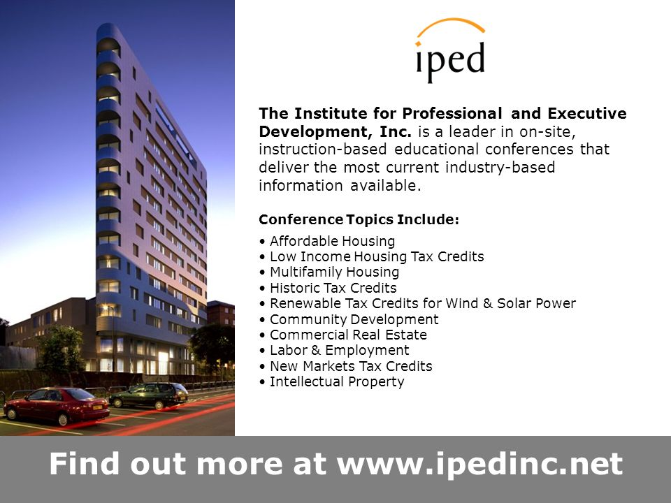 Find out more at   The Institute for Professional and Executive Development, Inc.