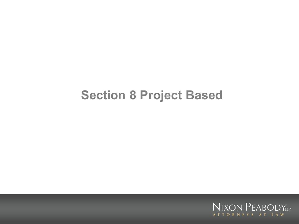 Section 8 Project Based
