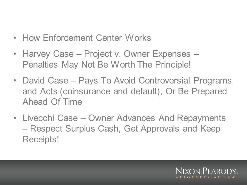 How Enforcement Center Works Harvey Case – Project v.