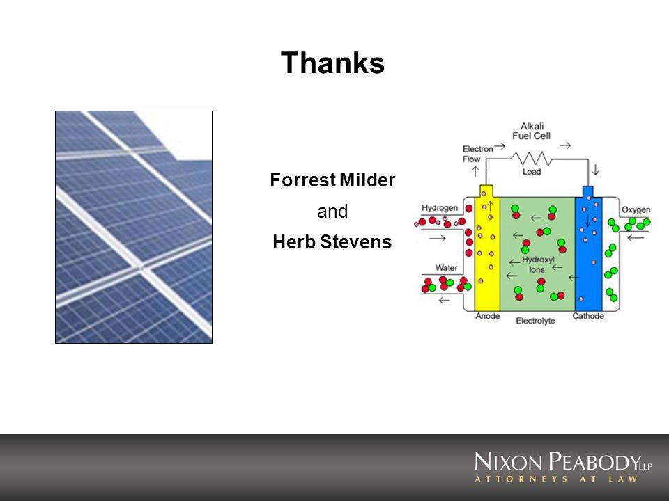 Thanks Forrest Milder and Herb Stevens