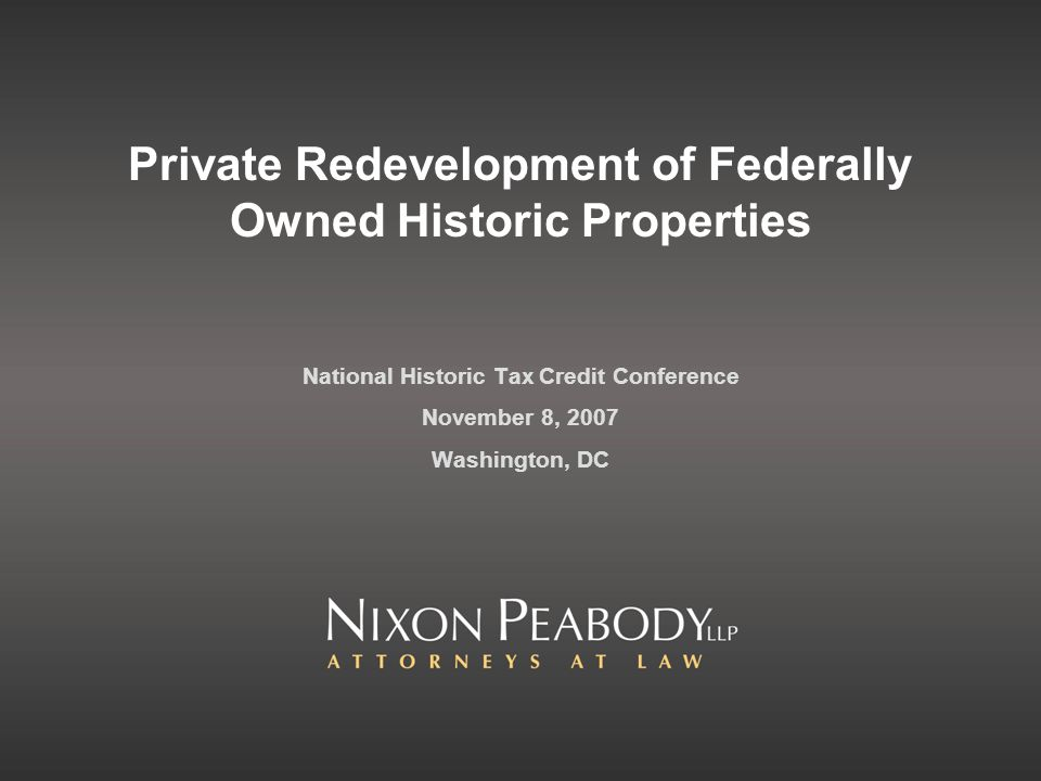 Federal Suprlus Property Program (Section 203(k)(3): The Historic Surplus Property Program allows state, county and local governments to obtain surplus Federal historic properties at no cost.