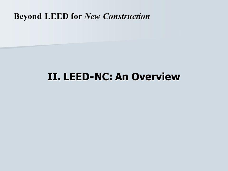 II. LEED-NC: An Overview
