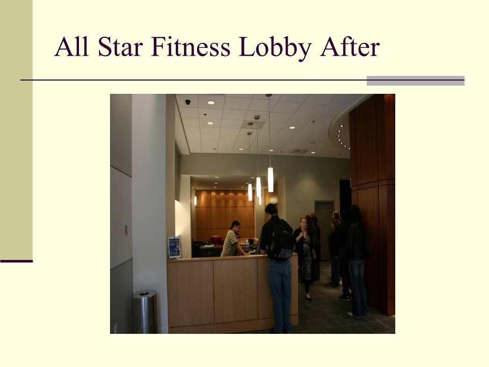 All Star Fitness Lobby After