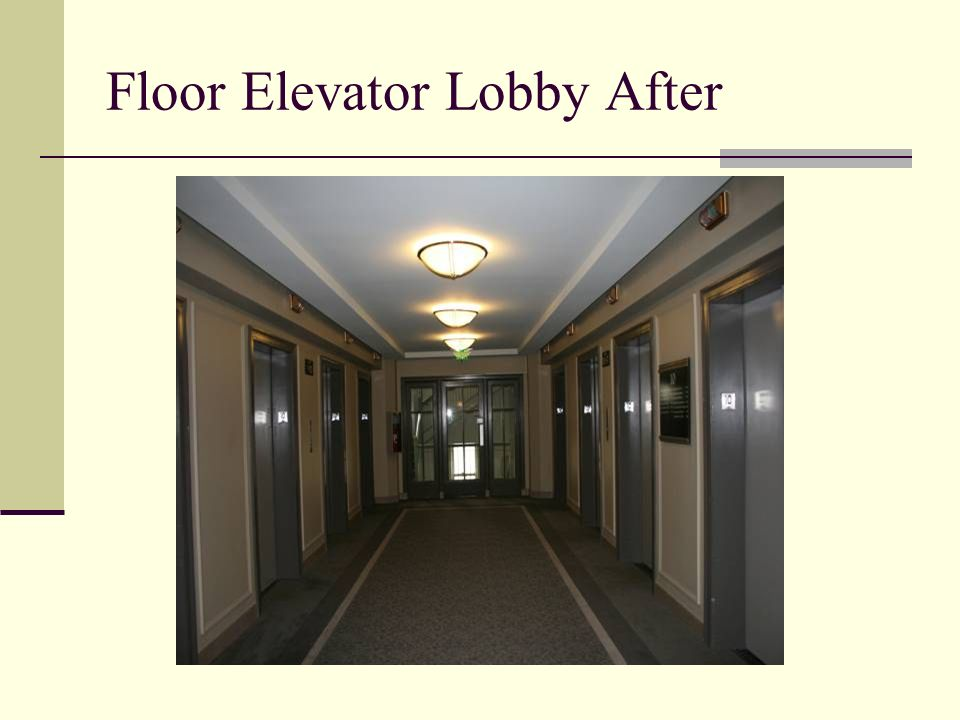 Floor Elevator Lobby After