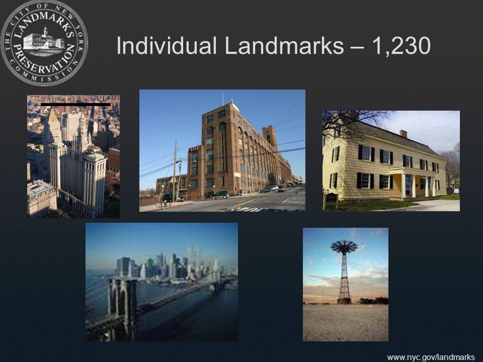 www.nyc.gov/landmarks Individual Landmarks – 1,230