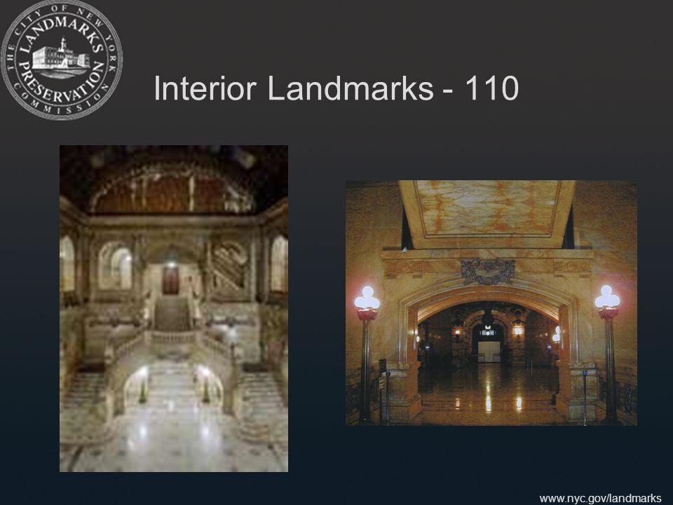 www.nyc.gov/landmarks Interior Landmarks - 110