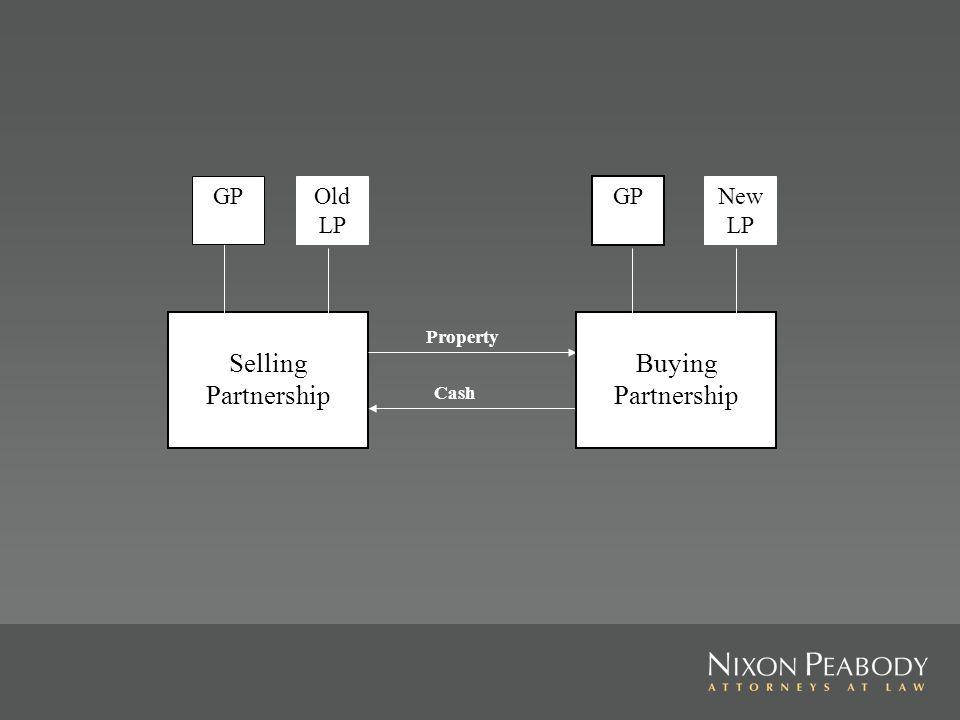Selling Partnership GPOld LP Property Cash Buying Partnership New LP GP