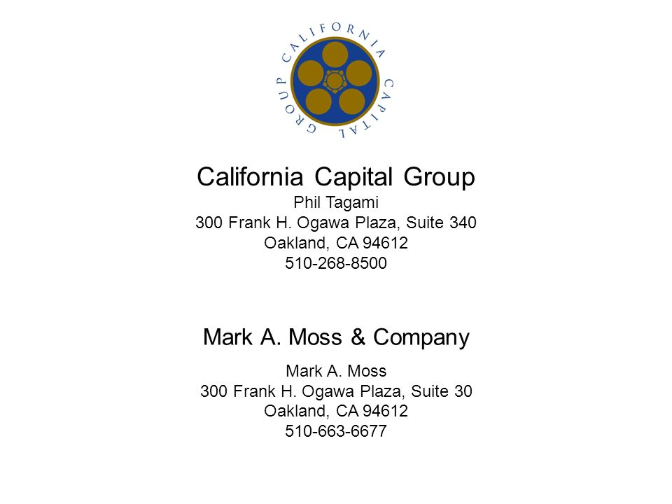 California Capital Group Phil Tagami 300 Frank H.