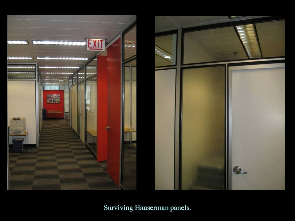 Surviving Hauserman panels.