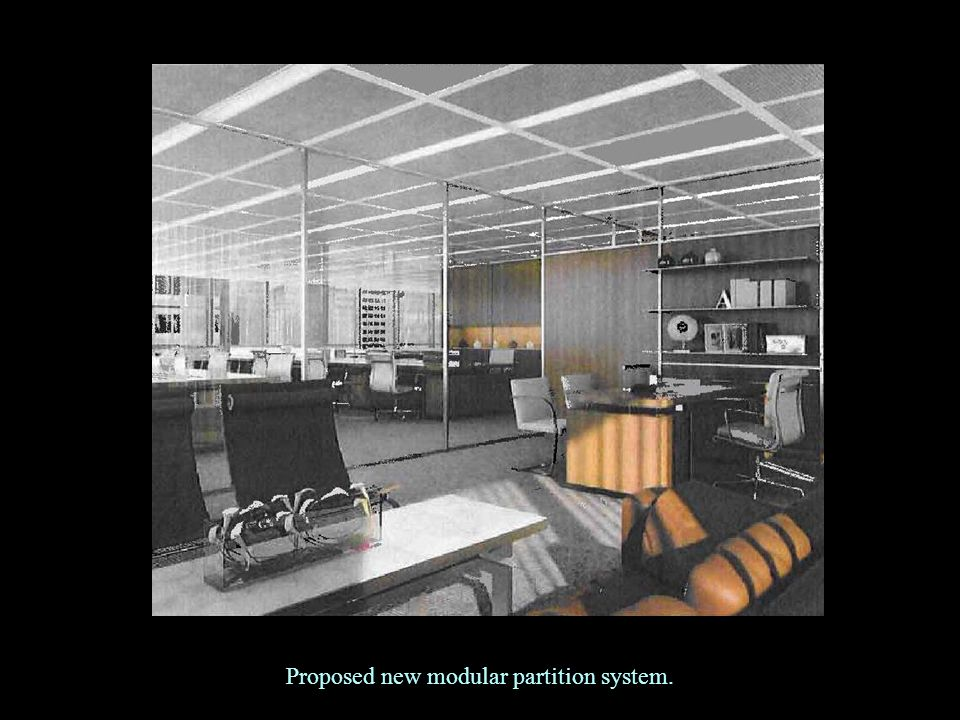 Proposed new modular partition system.