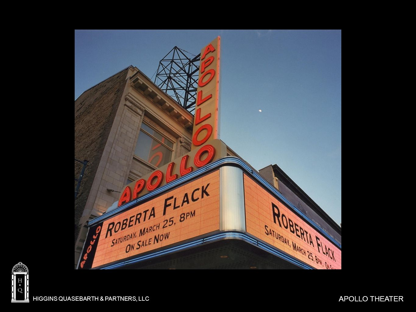 HIGGINS QUASEBARTH & PARTNERS, LLC APOLLO THEATER