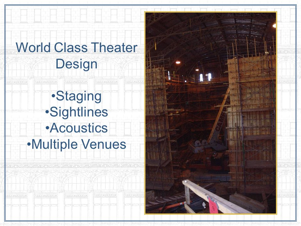 World Class Theater Design Staging Sightlines Acoustics Multiple Venues