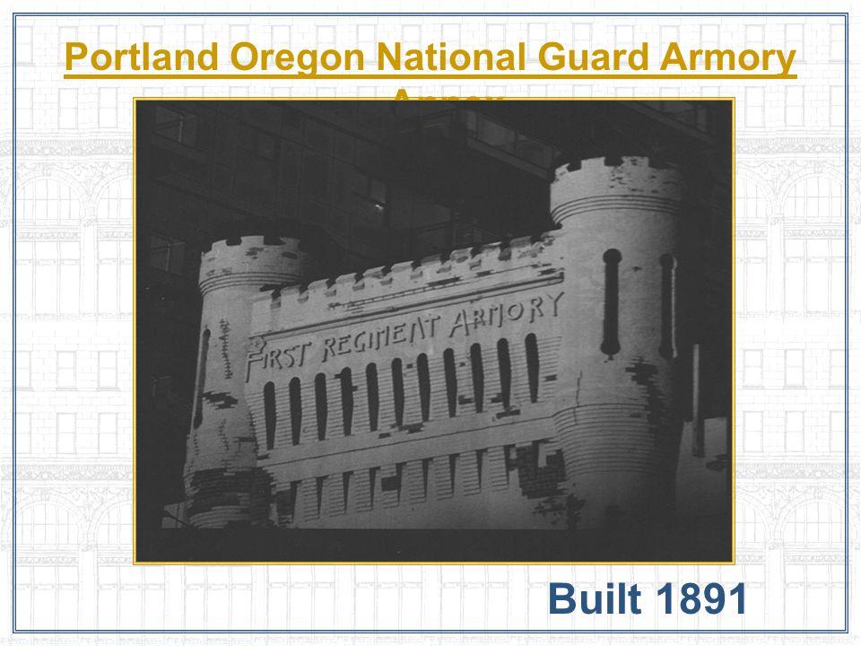 Portland Oregon National Guard Armory Annex Built 1891