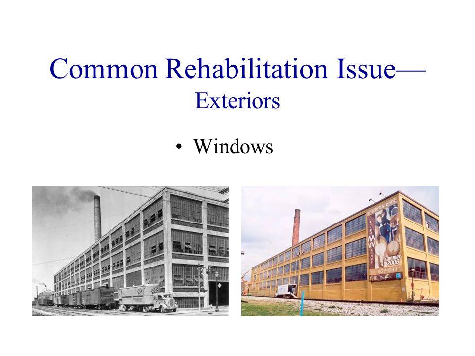 Common Rehabilitation Issue Exteriors Windows
