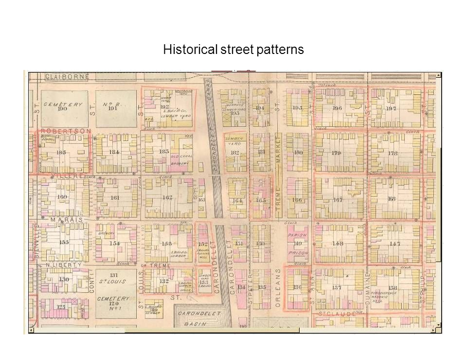 Historical street patterns