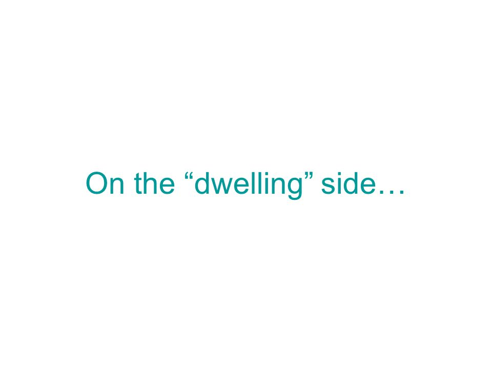 On the dwelling side…