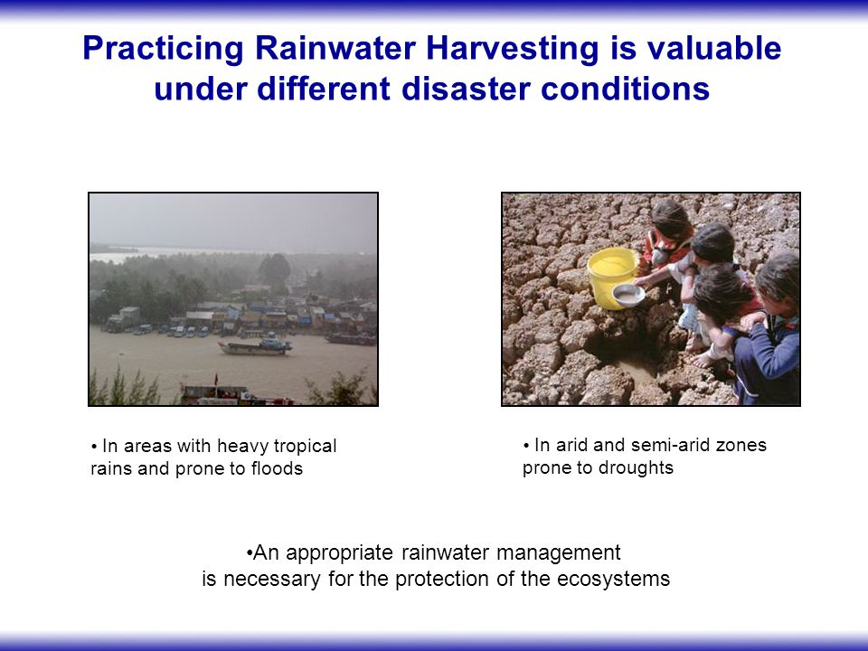 The two « hazards » - flood and drought should be integrated into a wider risk management system