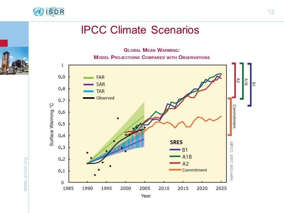 www.unisdr.org 13 IPCC Climate Scenarios