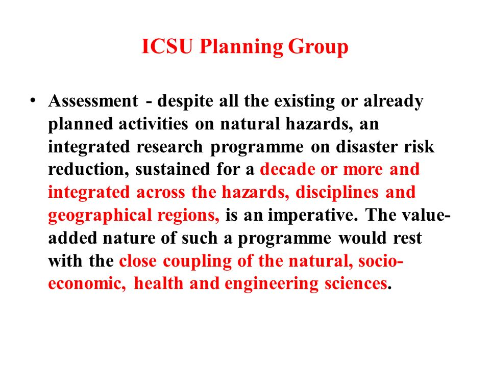 The executive summary of the ICSU Priority Area Assessment on Capacity Building in Science (2005a) stated that a great challenge is a development problem…the widening gap between advancing science and technology and societys ability to capture and use them.