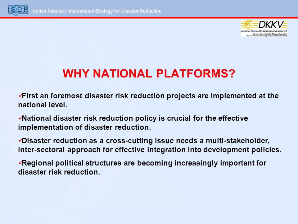 WHY NATIONAL PLATFORMS.