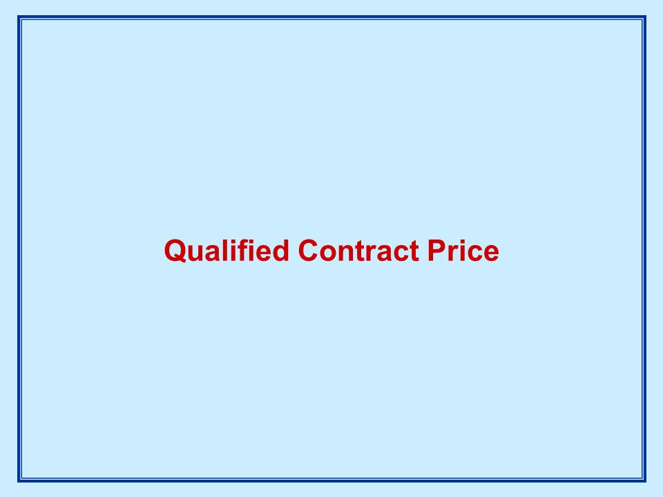 Qualified Contract Price