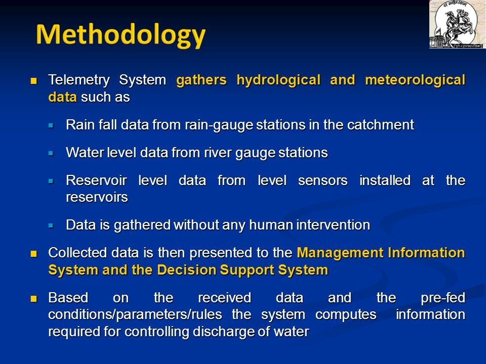 Telemetry System gathers hydrological and meteorological data such as Telemetry System gathers hydrological and meteorological data such as Rain fall