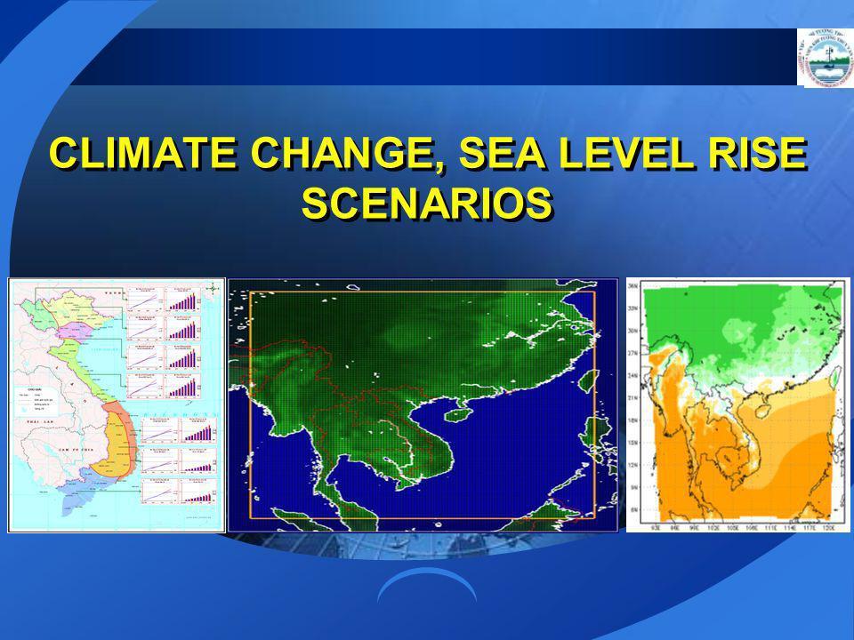 CLIMATE CHANGE, SEA LEVEL RISE SCENARIOS