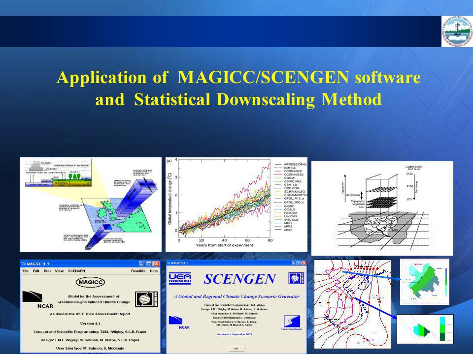 Application of MAGICC/SCENGEN software and Statistical Downscaling Method