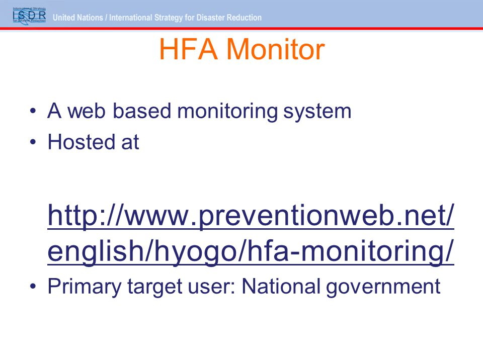 Discussion points Clarifications on the HFA Monitor tool Suggestions on enhancing visualization Expectations from the tool