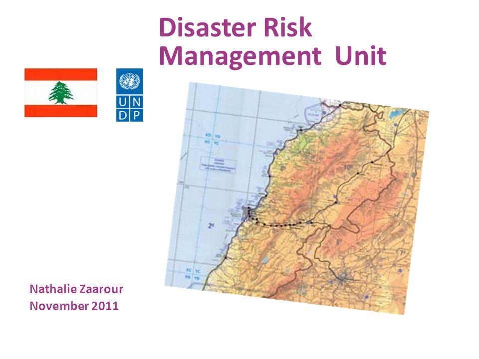 Disaster Risk Management Unit Nathalie Zaarour November 2011