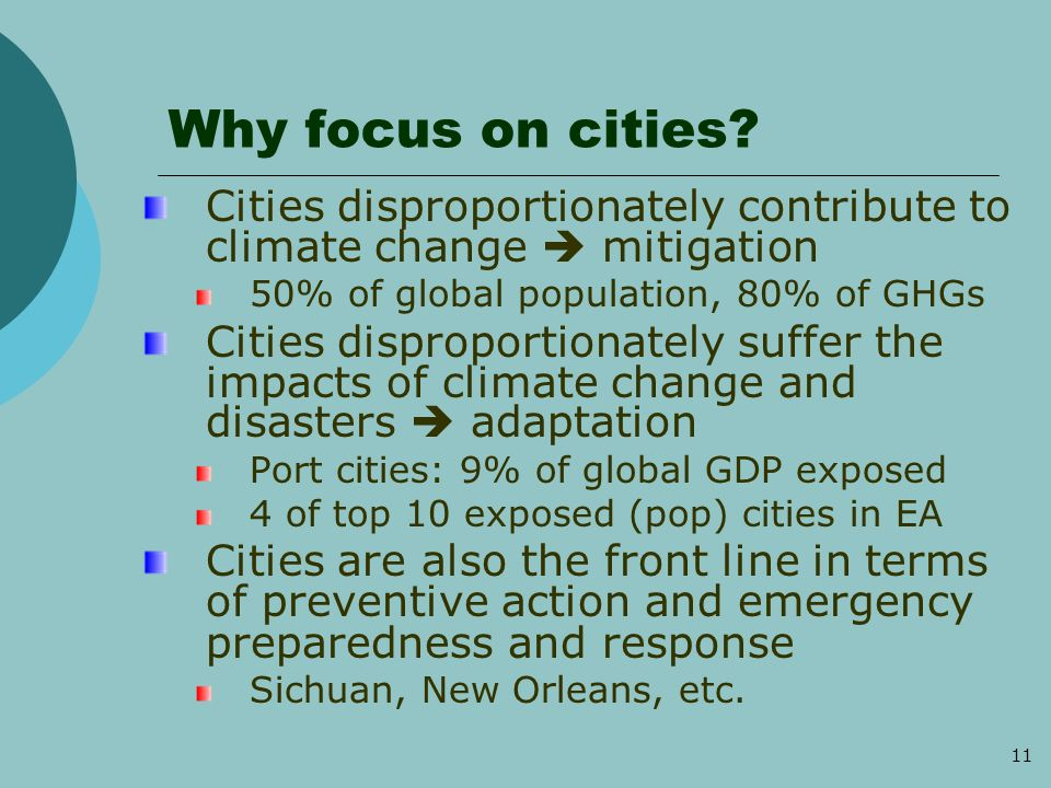 11 Why focus on cities.