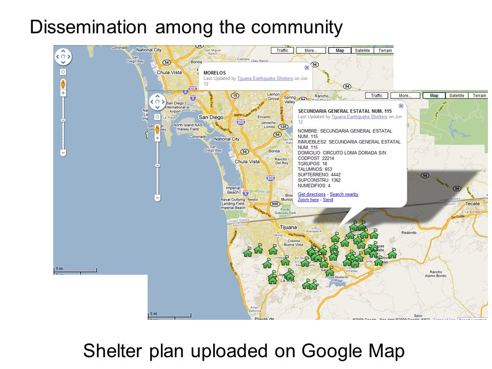 Dissemination among the community Shelter plan uploaded on Google Map