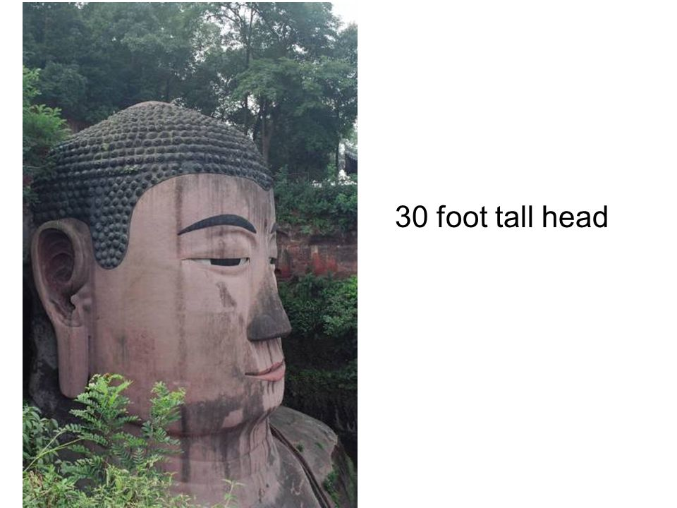 30 foot tall head