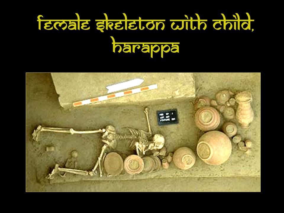 Female Skeleton with Child, Harappa