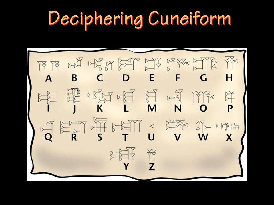 Deciphering Cuneiform