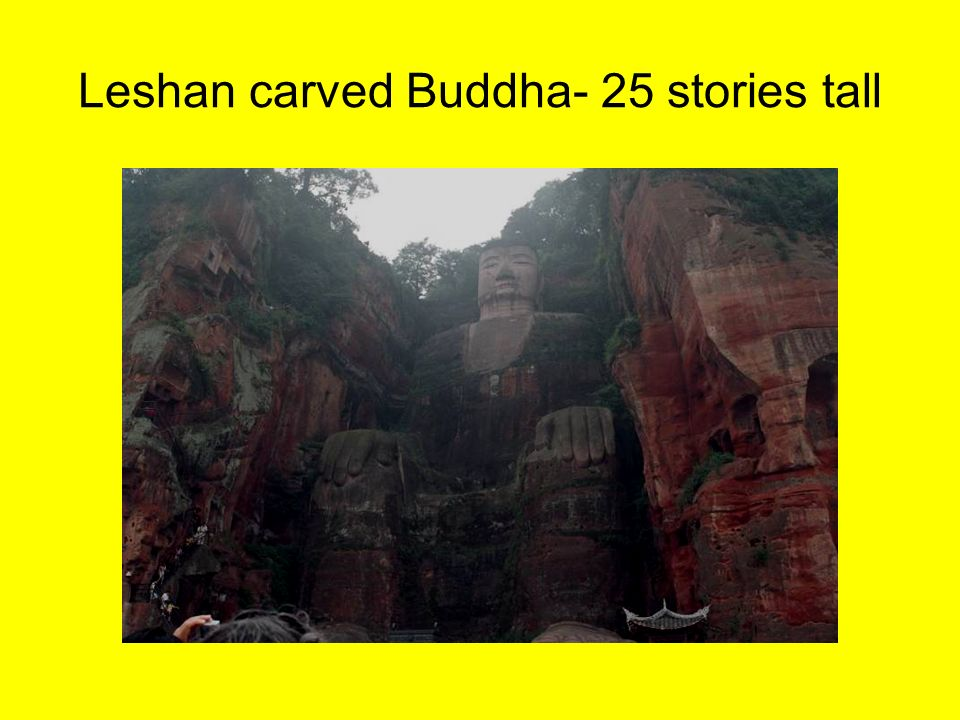 Leshan carved Buddha- 25 stories tall