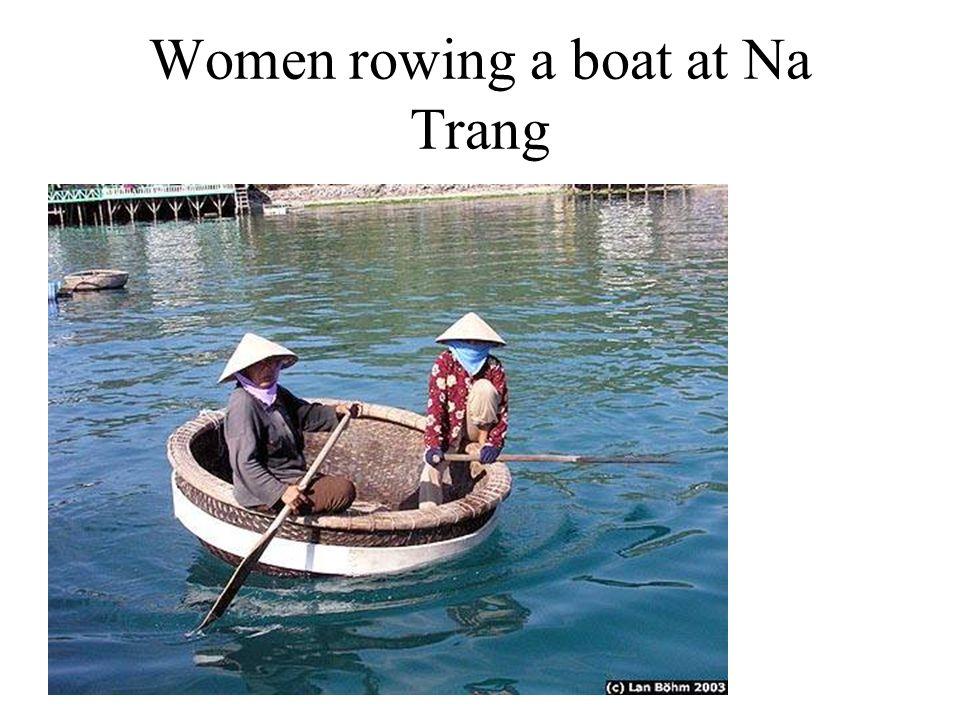 Women rowing a boat at Na Trang