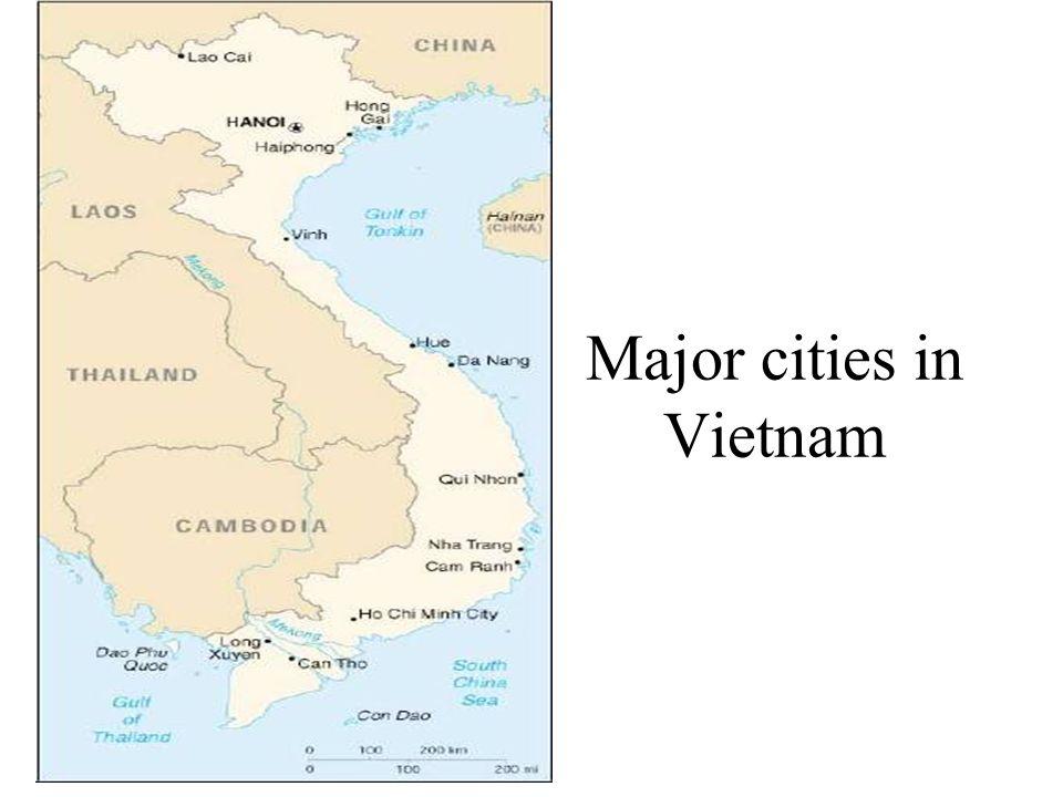 Major cities in Vietnam